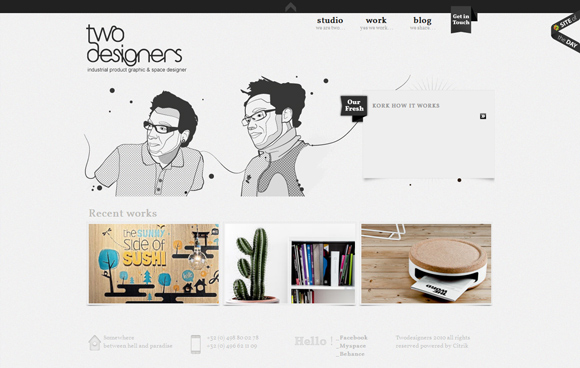 sketch style in web design Two Designers