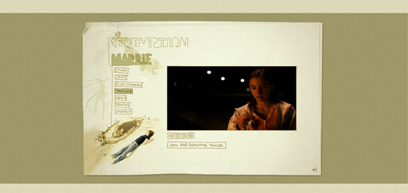 Redemption Maddie is an example of a handdrawn style websites
