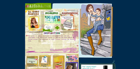 Mariska is an example of a handdrawn style websites