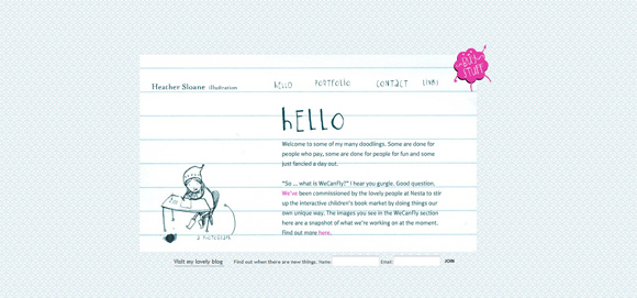 sketch style in web design Heather Loane