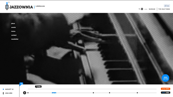 Jazzownia is an inspiring example of background video on the web