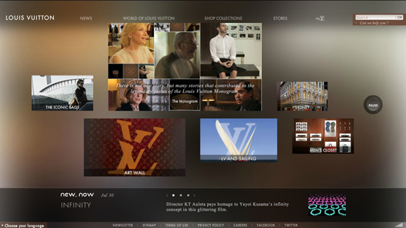 Louis Vuitton is an inspiring example of background video on the web
