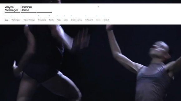 Randomdance is an inspiring example of background video on the web