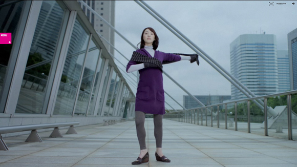 Uniqlo is an inspiring example of background video on the web