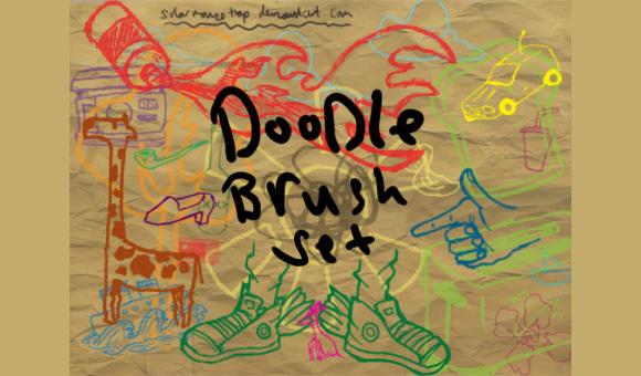 Photoshop Doodle Brush Set scribble doodle