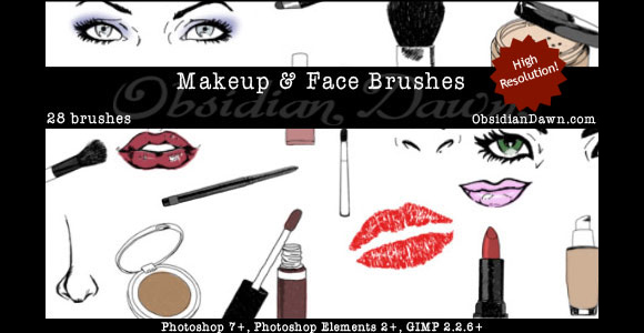 Photoshop Makeup Face Sketches Brushes scribble doodle