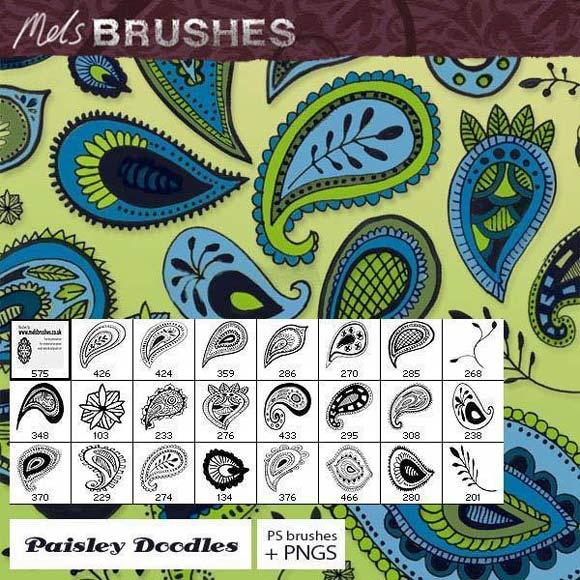 Photoshop Paisley Doodle Photoshop Brushes scribble doodle