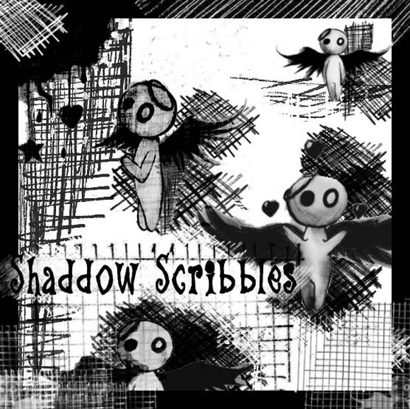 Photoshop Shadow Scribbles scribble doodle
