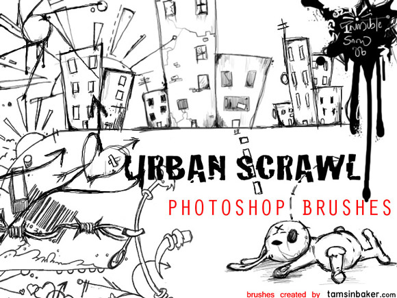 Photoshop Urban Scrawl Photoshop Brushes scribble doodle