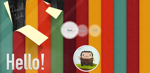 The Daniel Sitek homepage web design with a fantastic color scheme