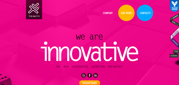 The Trinity Web Tech has an amazing color scheme for inspiration