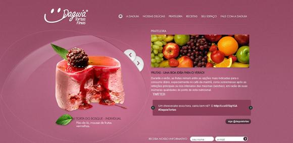 The Daguia homepage web design with a fantastic color scheme