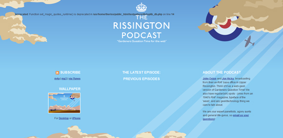 The The Rissington Podcast has an amazing color scheme for inspiration