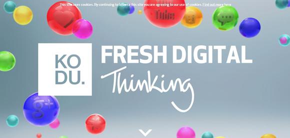 The Kodu Digital has an amazing color scheme for inspiration