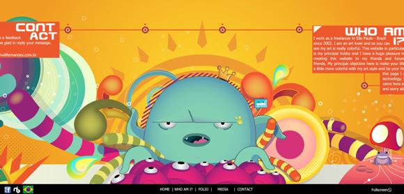 The Will Portfolio homepage web design with a fantastic color scheme