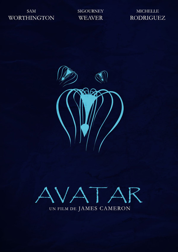 creative minimal movie poster of the Avatar film
