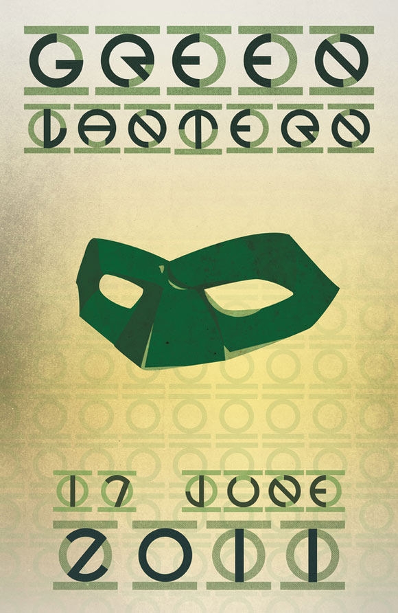 creative minimal poster of the Green Lantern movie