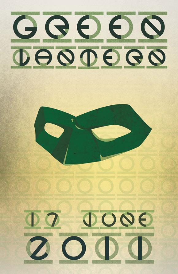 creative minimal poster of the Green Lantern movie