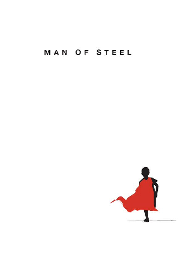 creative minimal poster of the Man of Steel movie
