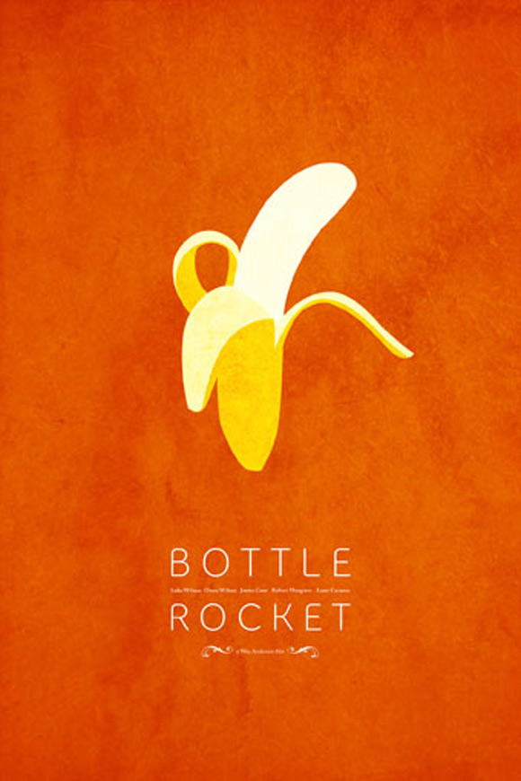 creative minimal movie poster of the Bottle Rocket movie
