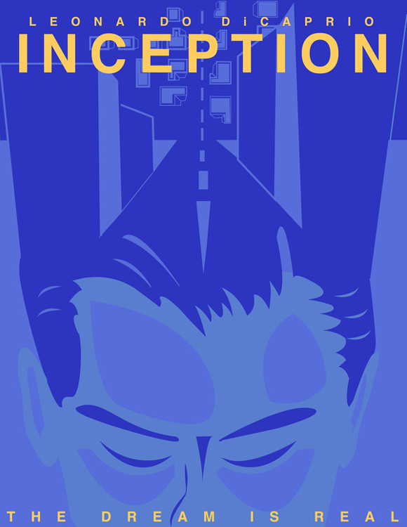 creative minimal poster of the Inception movie