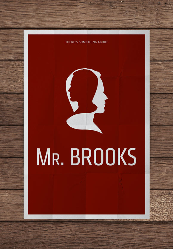 creative minimal poster of the Mr. Brooks movie