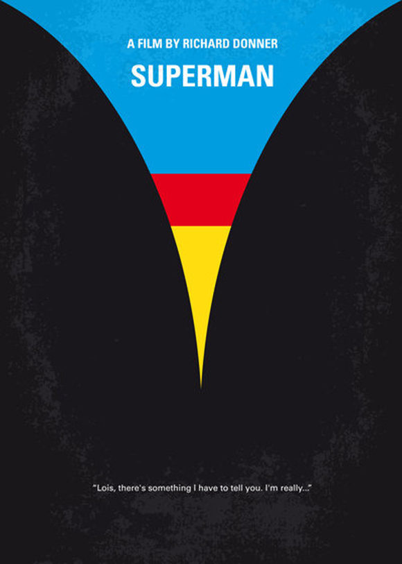creative minimal poster of the Superman film