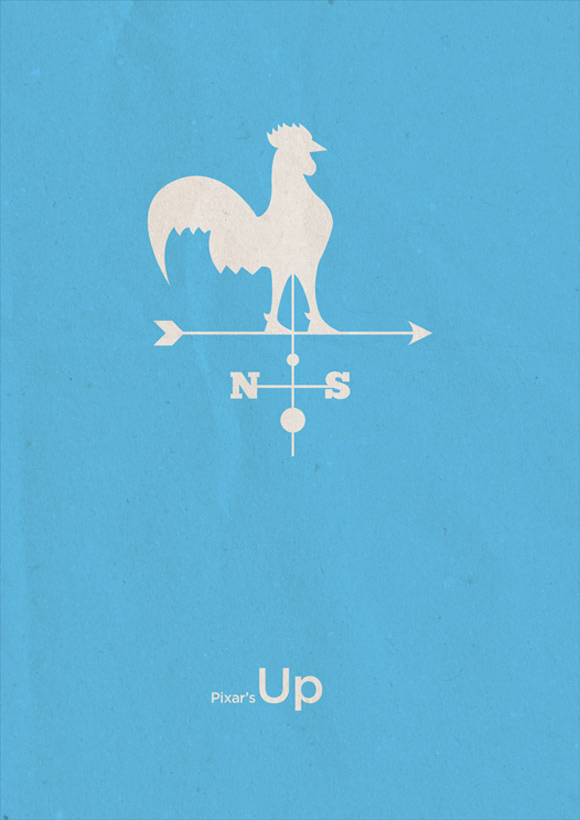 creative minimal poster of the Up movie