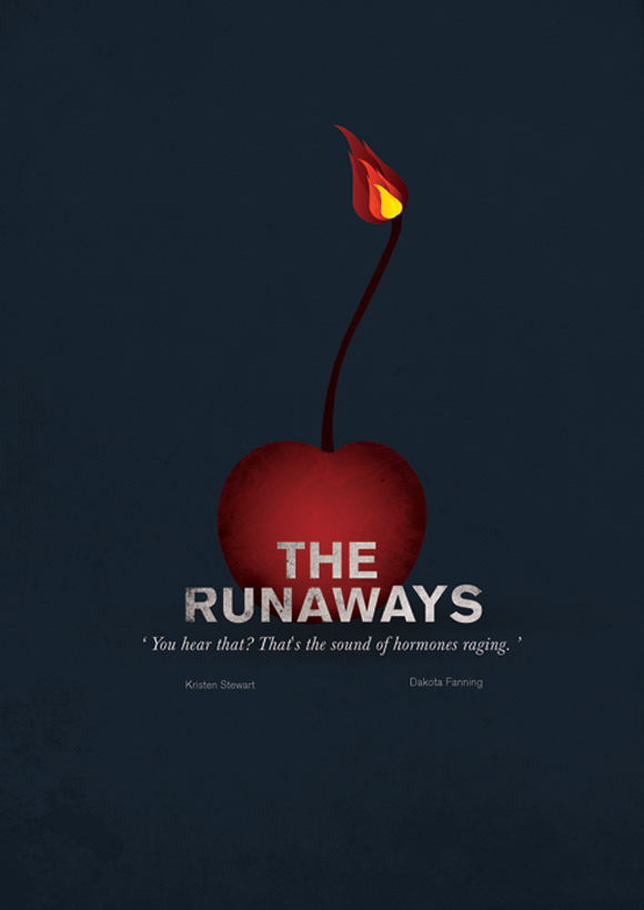 creative minimal poster of the The Runaways movie