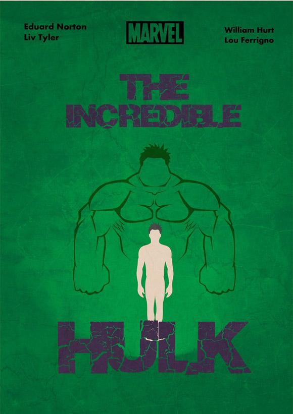 creative minimal poster of the The Incredible Hulk film