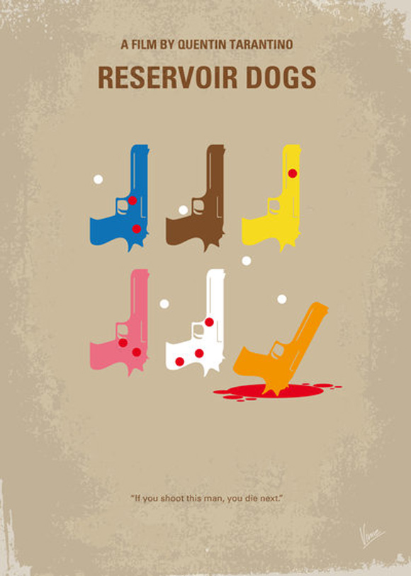 creative minimal poster of the Reservoir Dogs movie