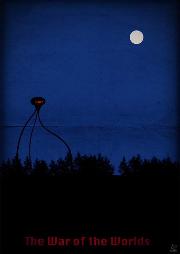 creative minimal poster of the The War of the Worlds film