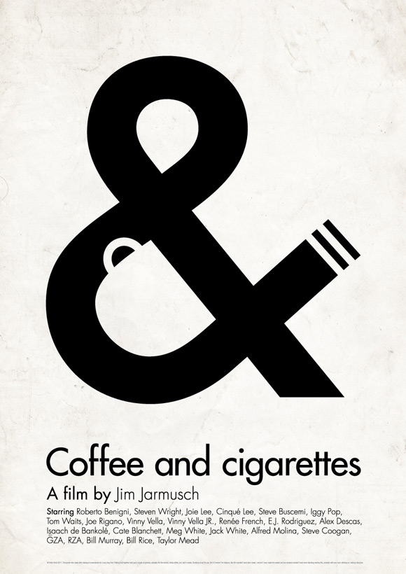 Coffee and Cigarettes pictogram poster inspiration movie