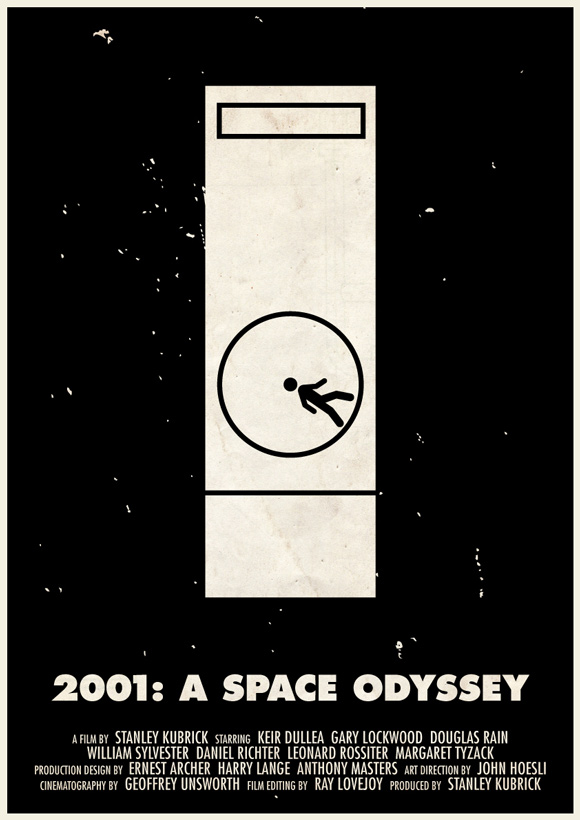2001: A Space Odyssey pictogram poster inspiration movie