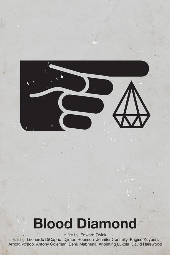 Blood Diamond pictogram poster inspiration movie
