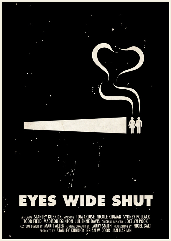 Eyes Wide Shut pictogram poster inspiration movie