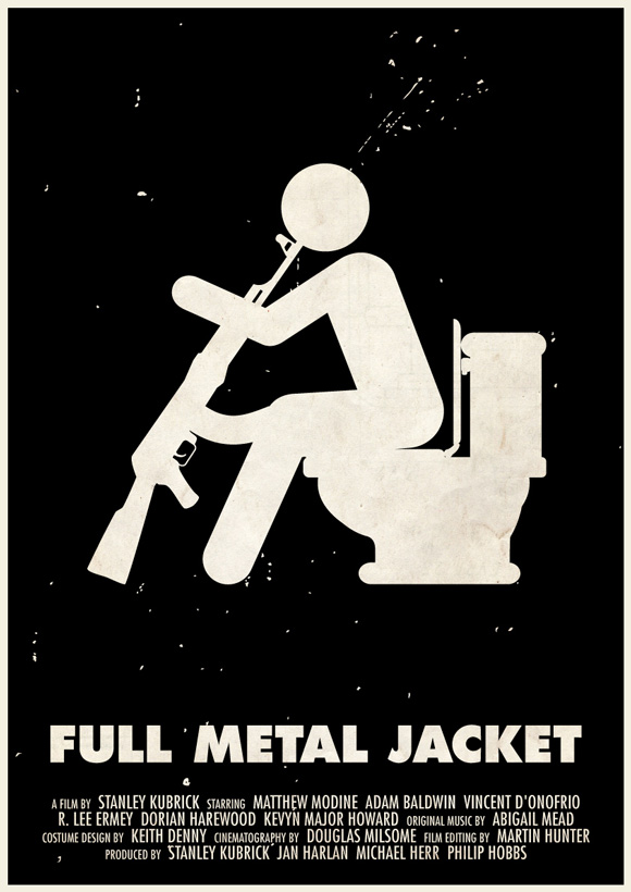 Full Metal Jacket movie poster in a pictogram style