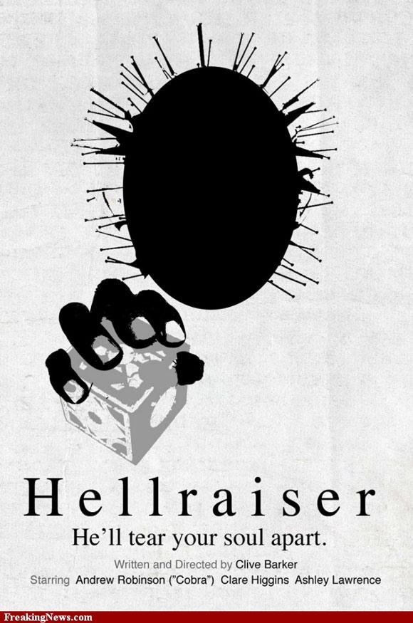 Hellraiser pictogram poster inspiration movie