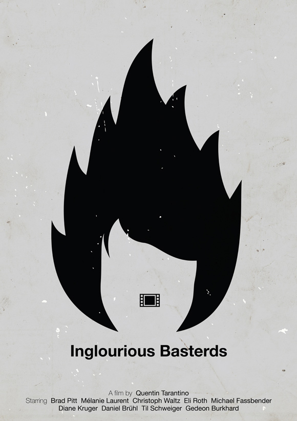 Inglourious Basterds pictogram poster inspiration movie
