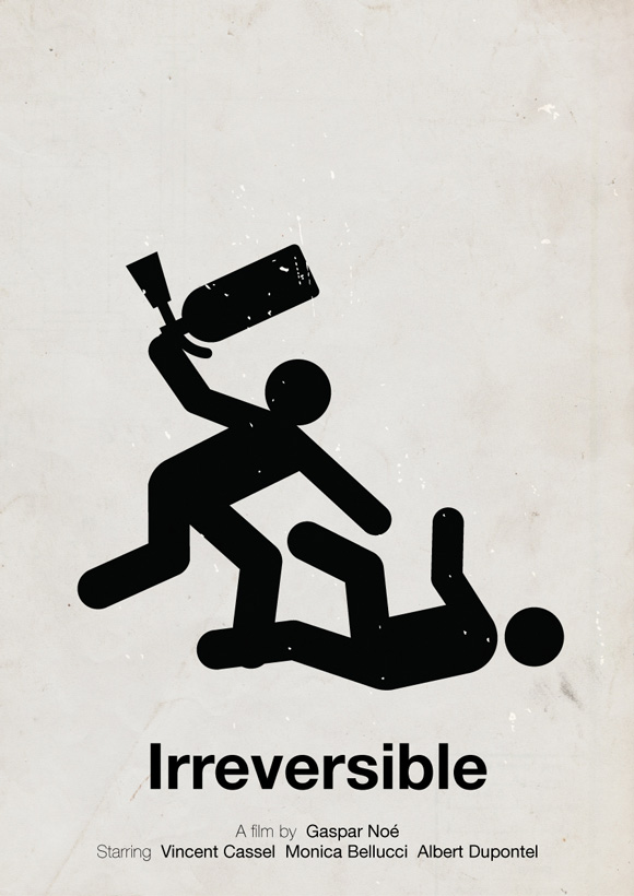 Irreversible movie poster in a pictogram style