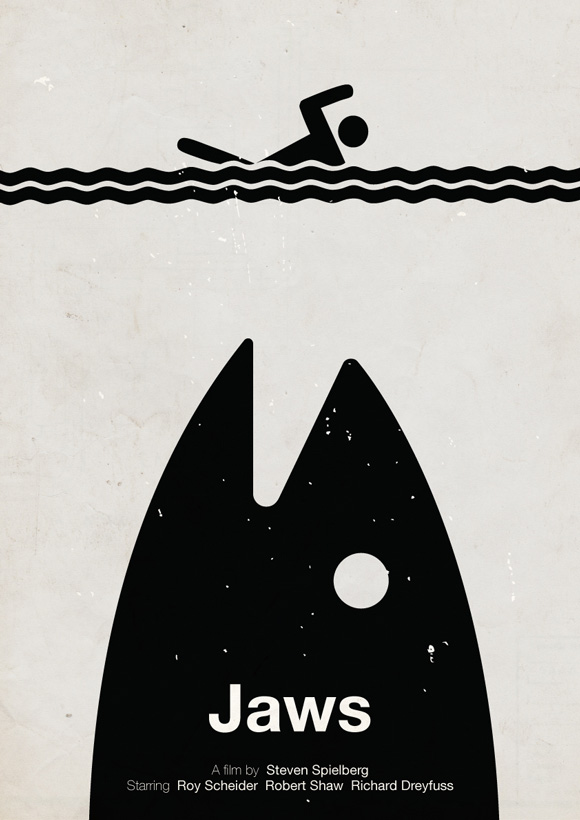 Jaws pictogram poster inspiration movie