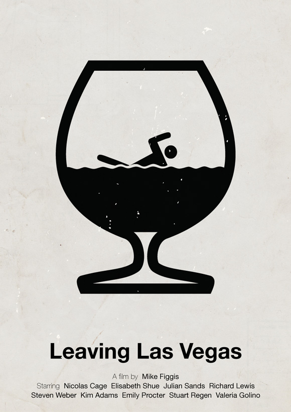 Leaving Las Vegas movie poster in a pictogram style