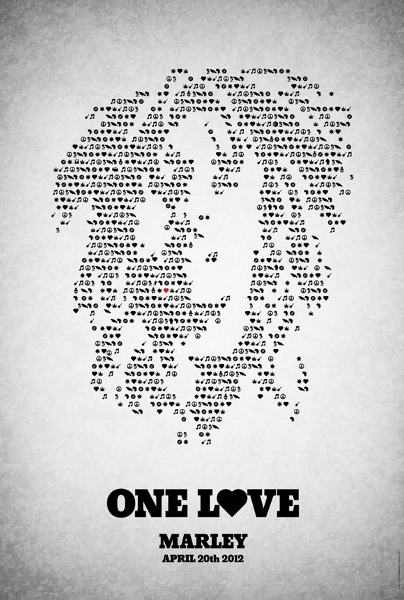 One Love pictogram poster inspiration movie