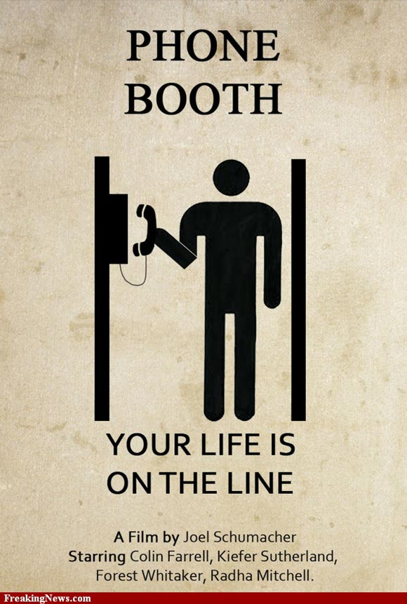Phone Booth movie poster in a pictogram style