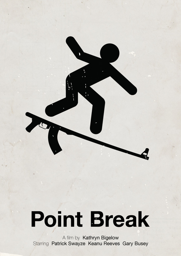 Point Break pictogram poster inspiration movie