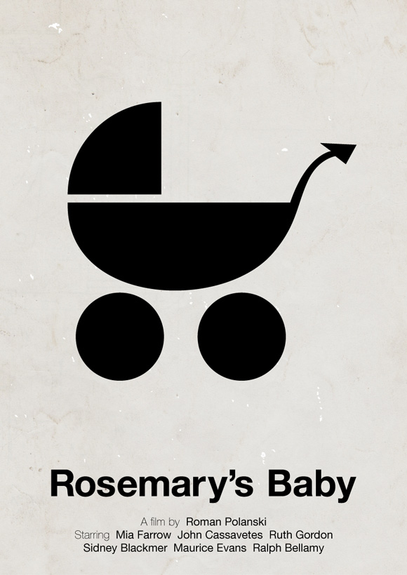 Rosemary's Baby pictogram poster inspiration movie
