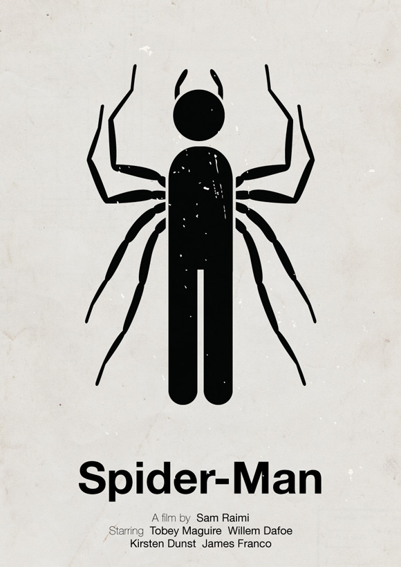 Spider Man pictogram poster inspiration movie