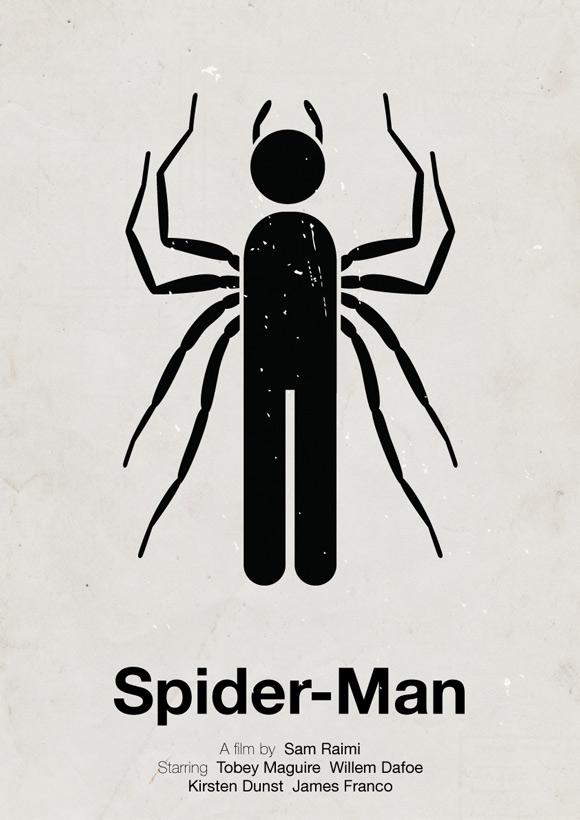 Spider Man pictogram poster inspiration movie