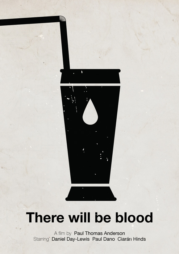 There Will Be Blood movie poster in a pictogram style