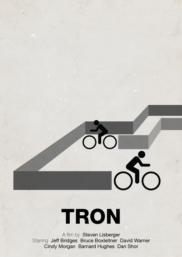 Tron pictogram poster inspiration movie